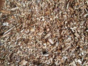 Close up of the virgin woodchip. 30mm screened to remove the fines.